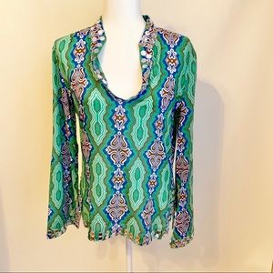 Tory Burch Tunic with Mirror Bead Detail